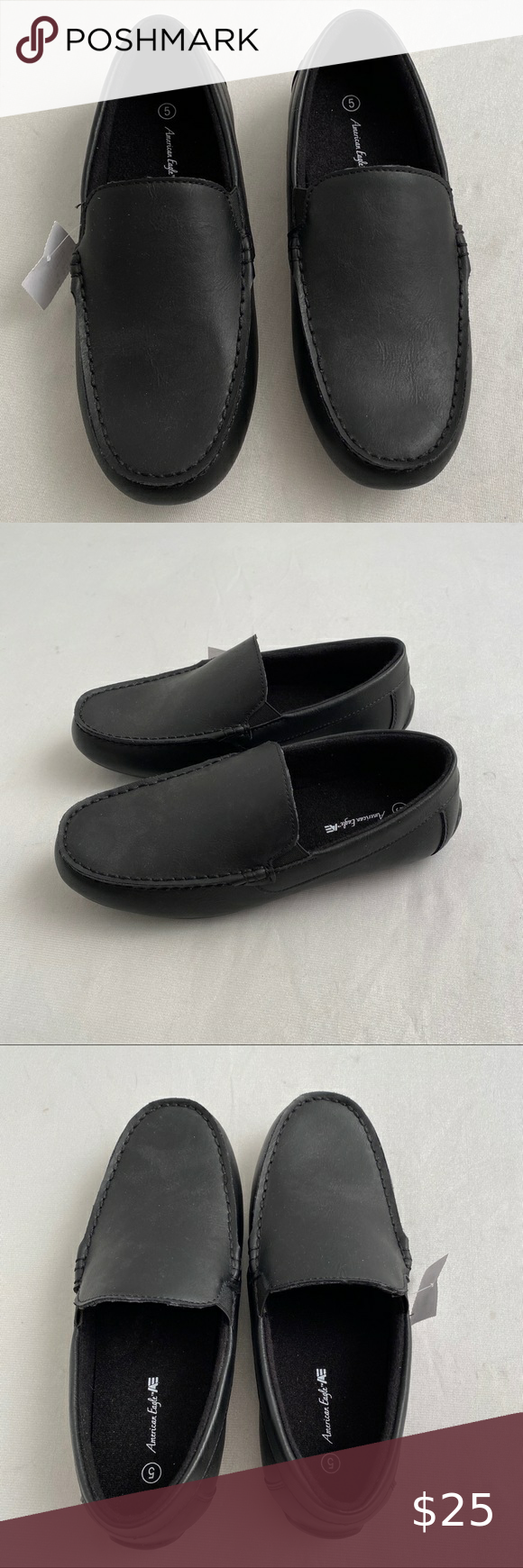 American Eagle black slip on shoes in