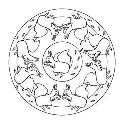eichhörnchen mandalas - ausmalbilder für kinder | herbst | ausmalbilder kinder, ausmalbilder und