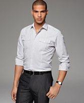 black slacks and button up groomsmen | ... shirt / white-face ...