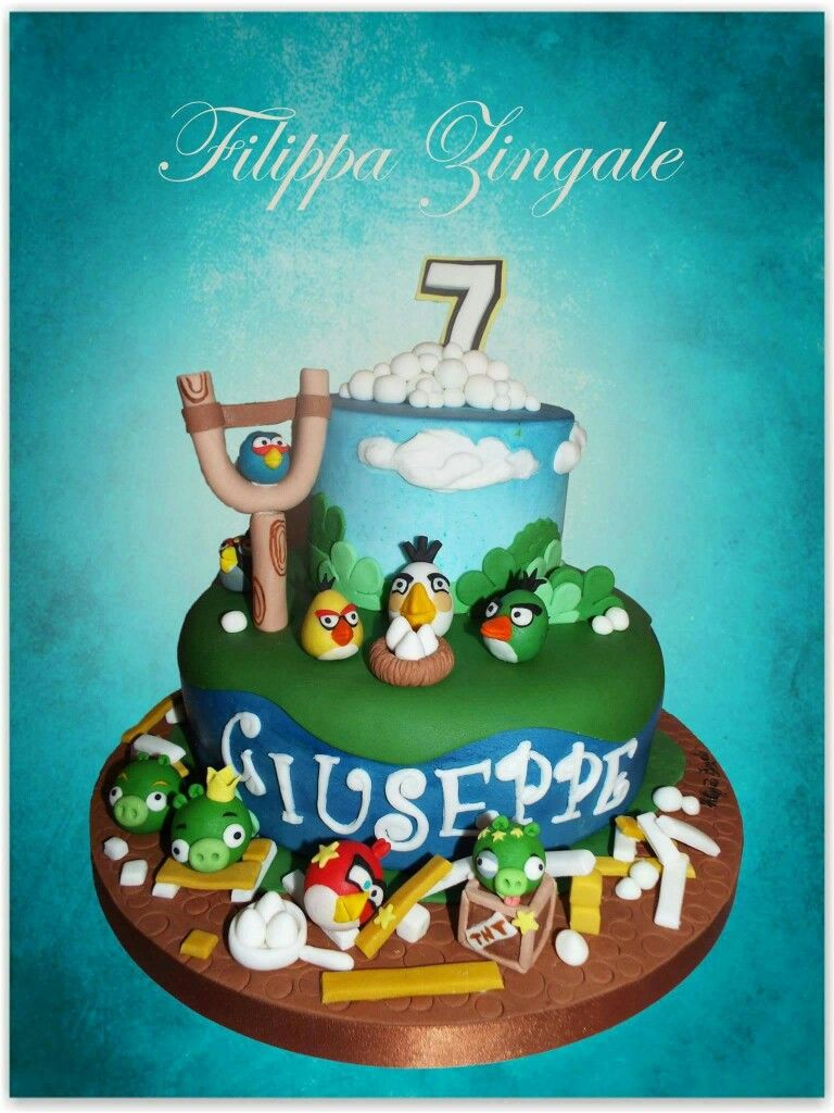 #sugarcake #birthdaycake #cakedesigne #angrybirdscake