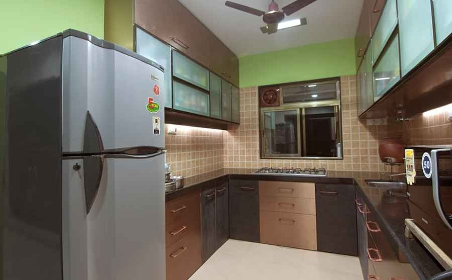 Large Kitchen with Tiles and cabinets, Design by Rajiv Garg ...