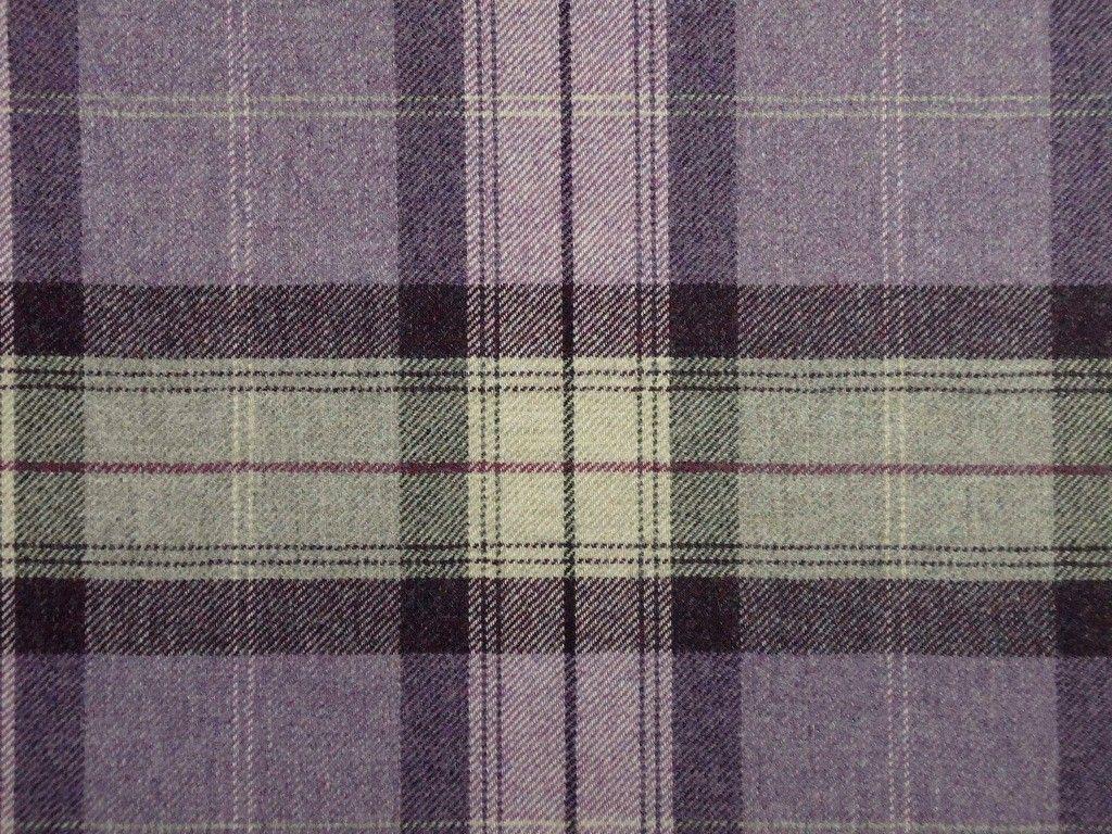 100 Highland Wool Tartan Plaid Amethyst Aubergine Curtain