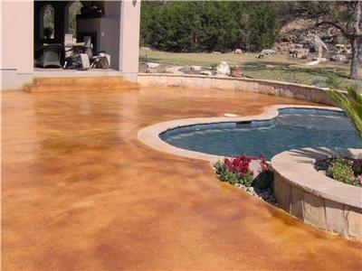 Concrete Pool Decks Custom Concrete Solutions Schertz, TX. Painted Concrete  PatiosConcrete PoolStained ConcreteConcrete FloorsAcid ...