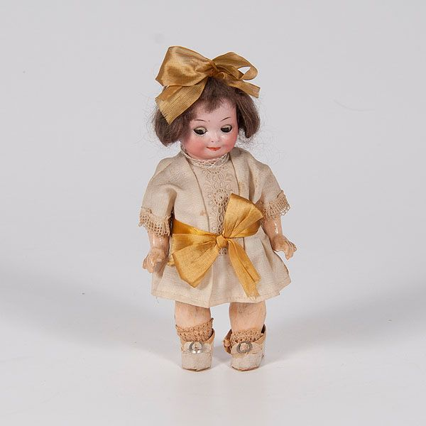 "<i>Armand Marseille</i> ""Nobbi Kid"" Bisque Googlie Doll (9/6/2014 - Cleveland Inaugural Auction: Live Salesroom Auction)"