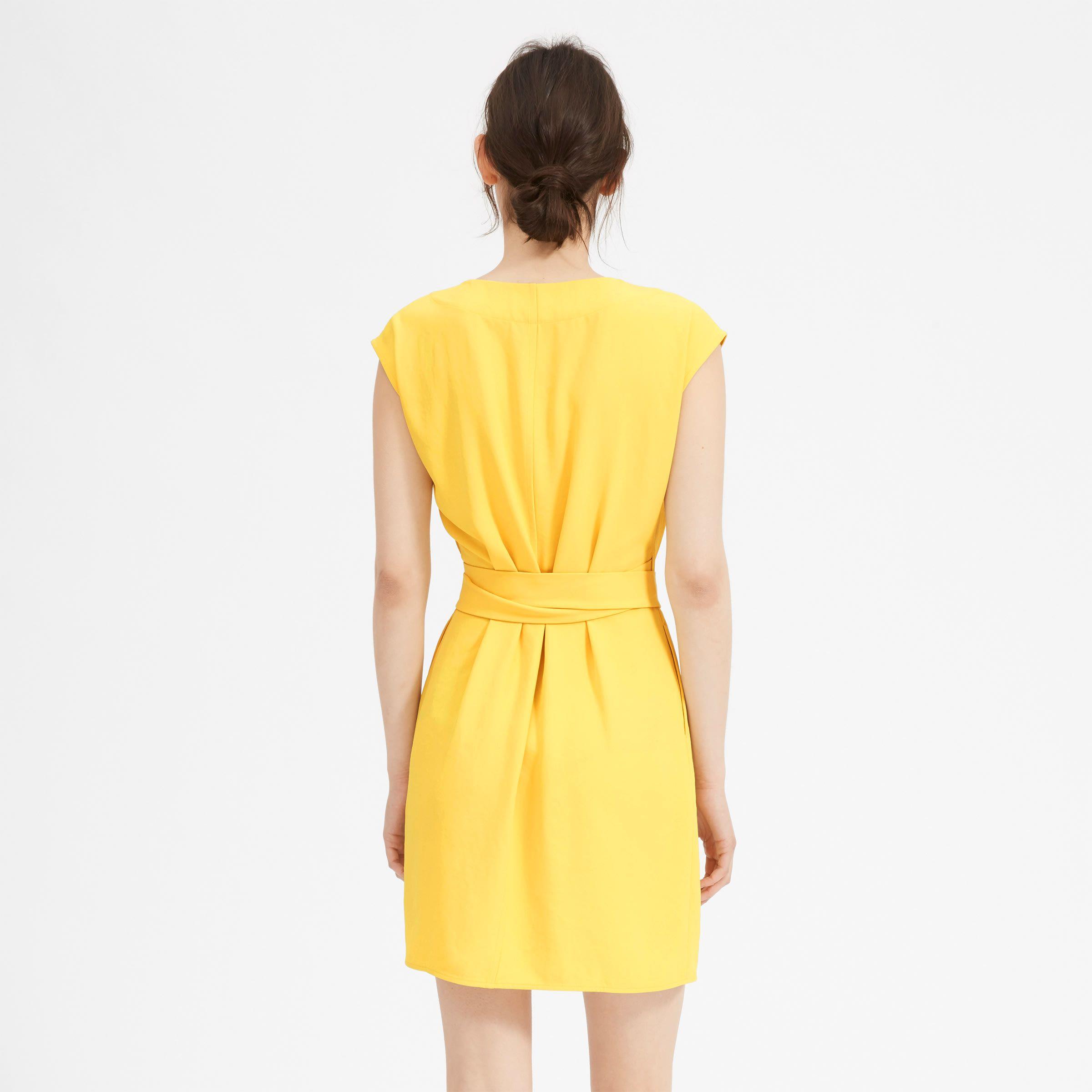 Women S Japanese Goweave Short Sleeve Mini Wrap Dress Everlane Mini Wrap Dress Cotton Tank Dress Jumpsuit Dress [ 2400 x 2400 Pixel ]