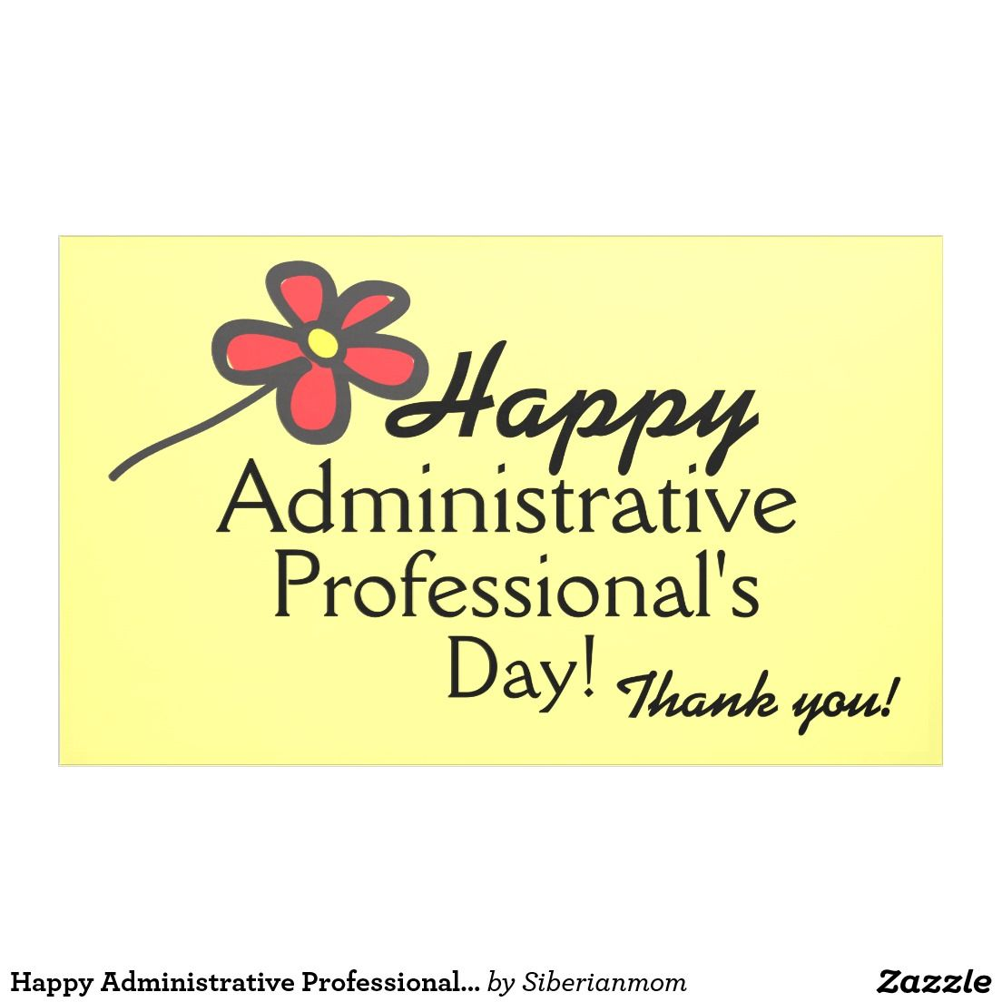 Thank You Quotes For Administrative Professionals Day: Happy Administrative Professional's Day Banner
