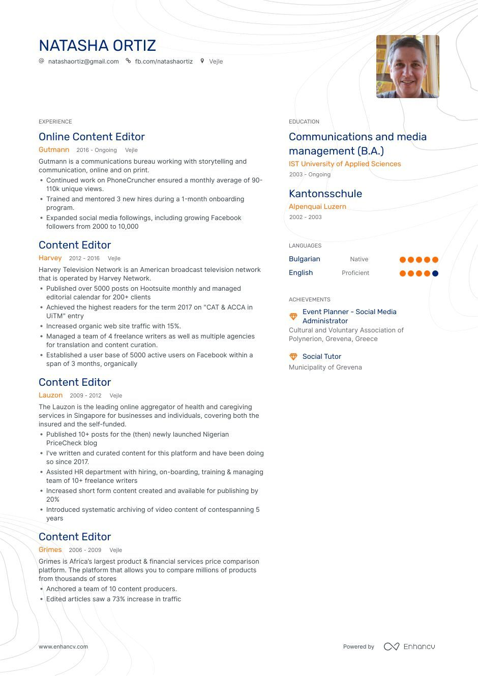 Content Editor Resume Example and guide for 2019 Resume