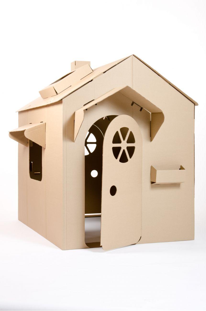 children s cardboard playhouse playhouse cardboard. Black Bedroom Furniture Sets. Home Design Ideas