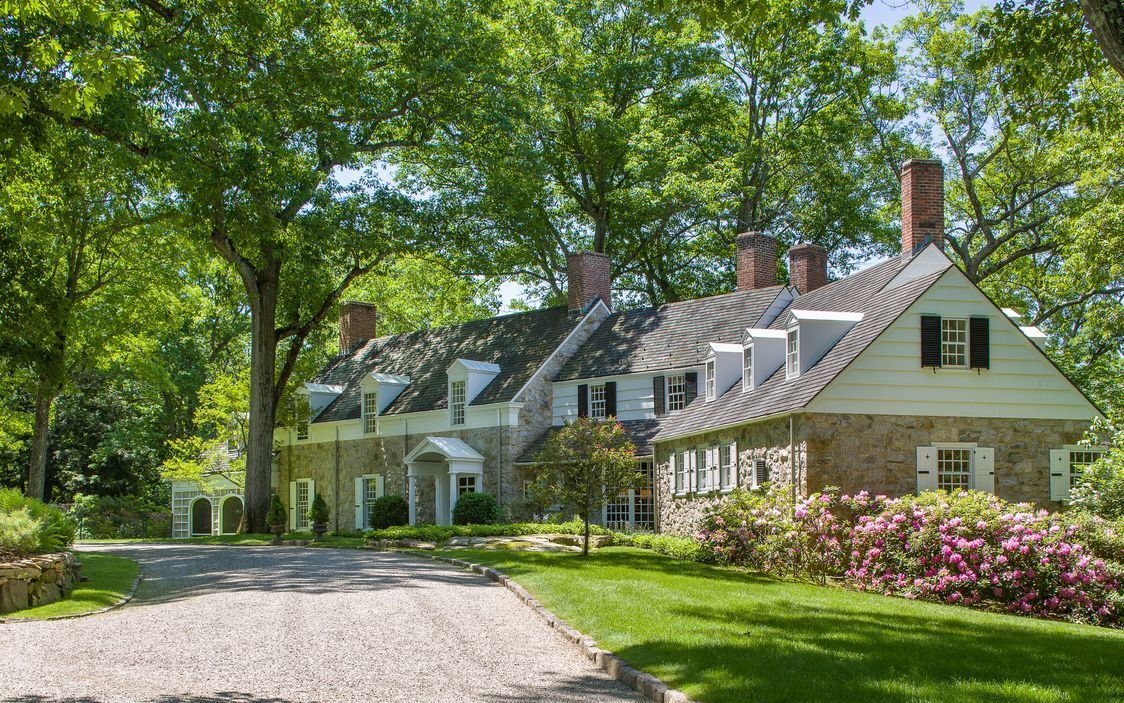 English style stone shingle country manor designed by noted architect charles lewis bowman in chappaqua ny