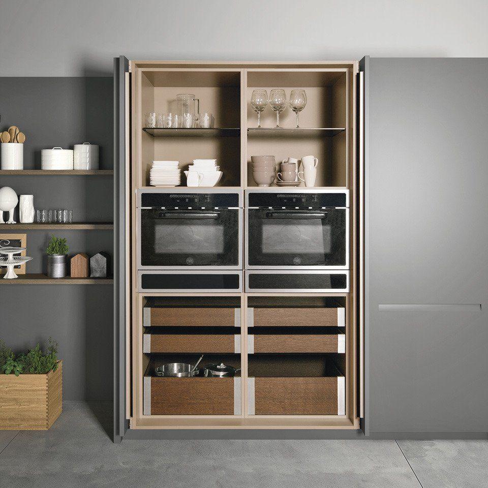Cucina elegante in legno, Cucine con cappa a parete o cappa a ...