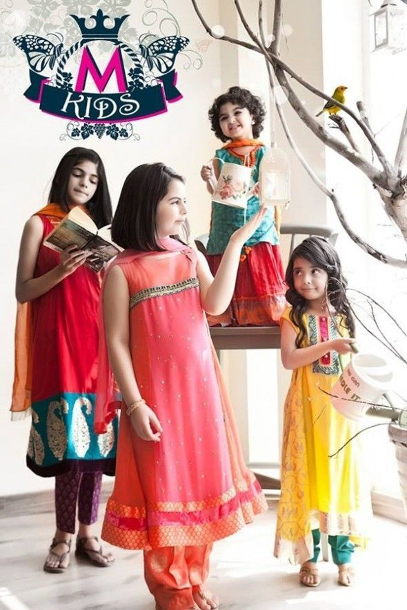 Kids Fancy dresses 2016 in Pakistan-maria.B  d64f7d6401a