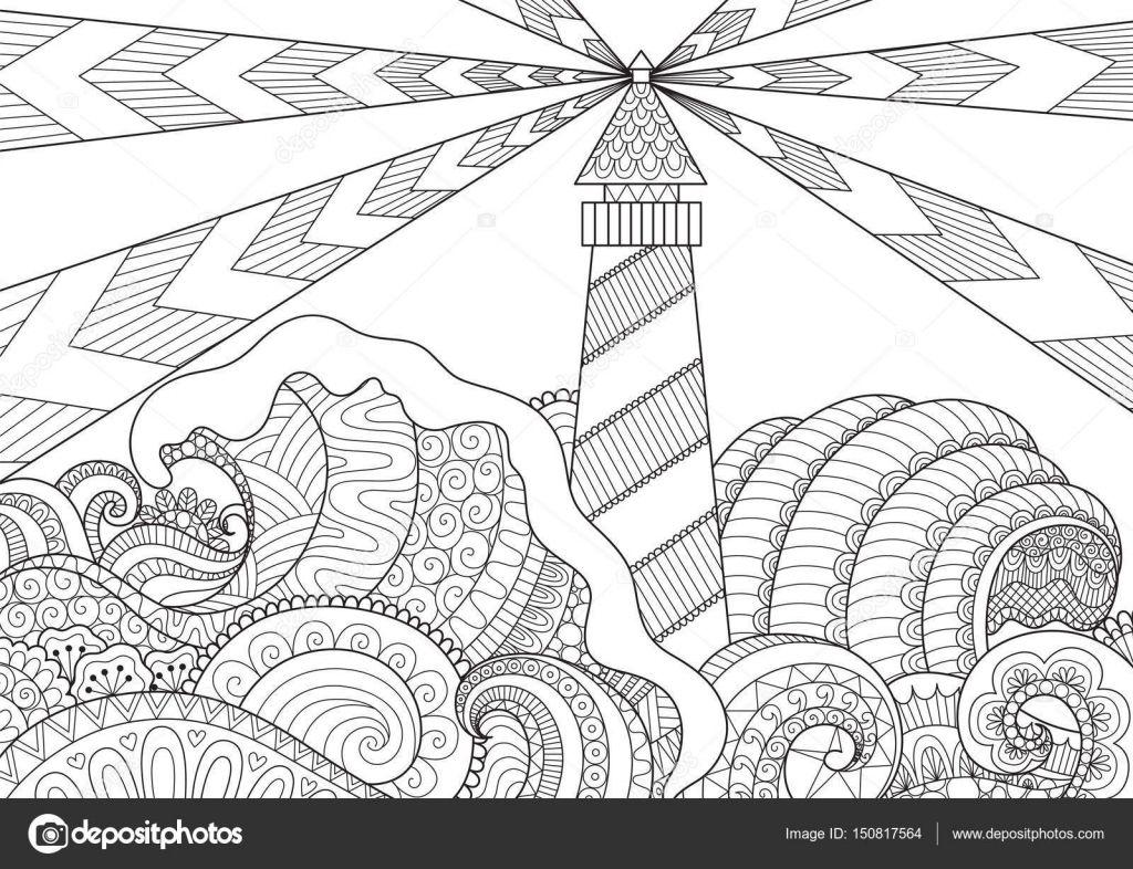Descargar - Diseño de arte de línea marino para colorear libro para ...