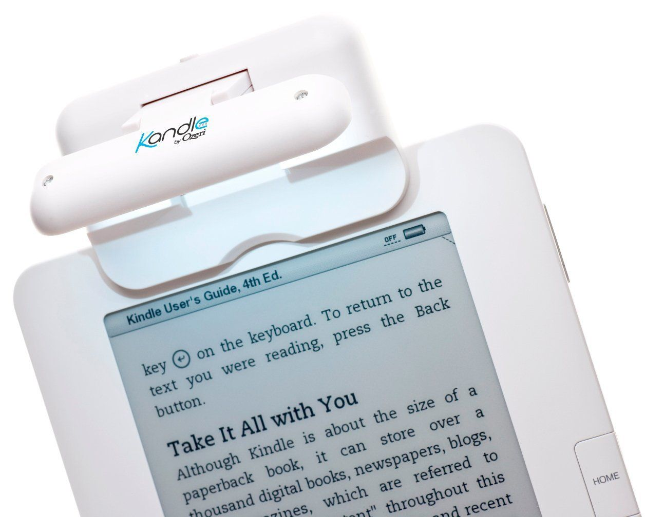 Kandle by Ozeri LED Book Light in White -- Designed for the