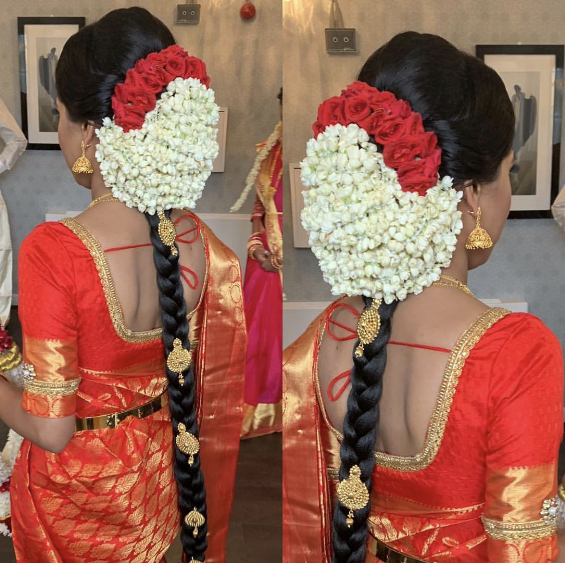 South Indian Wedding Braid Bridal Hairdo Indian Bridal Hairstyles South Indian Wedding Hairstyles
