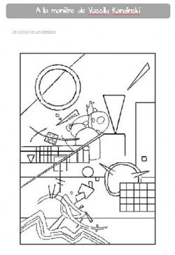 Kandinsky | Kunst voor kinderen, Kleurplaten, Kandinsky