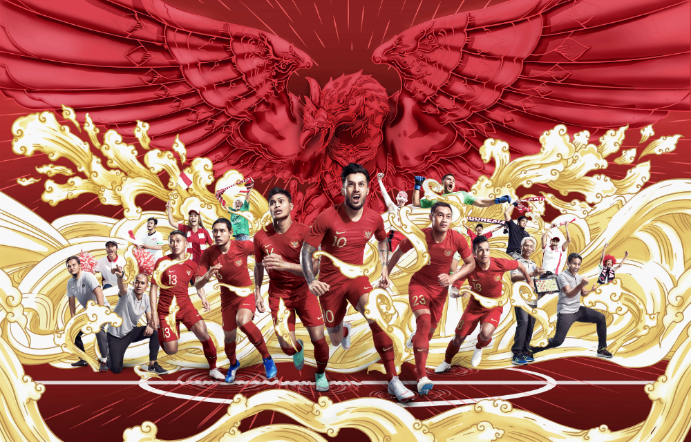 Pssi Kita Garuda On Behance Creative Advertising Print Ads