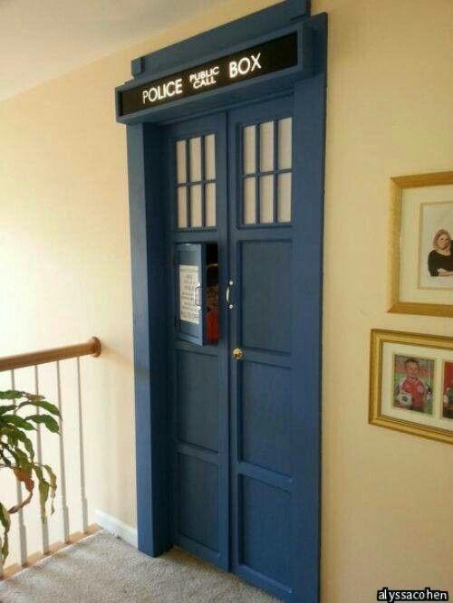 The door to my room (I wish).  It's bigger inside