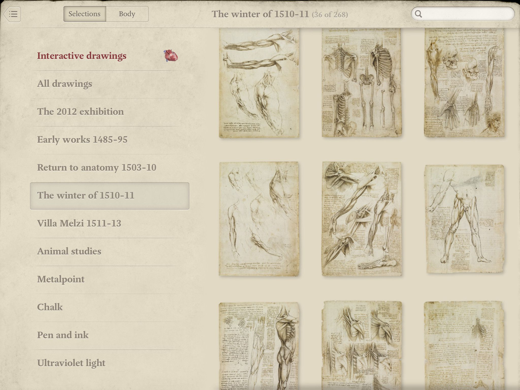 Leonardo da Vinci Anatomy For iPad The Master's work