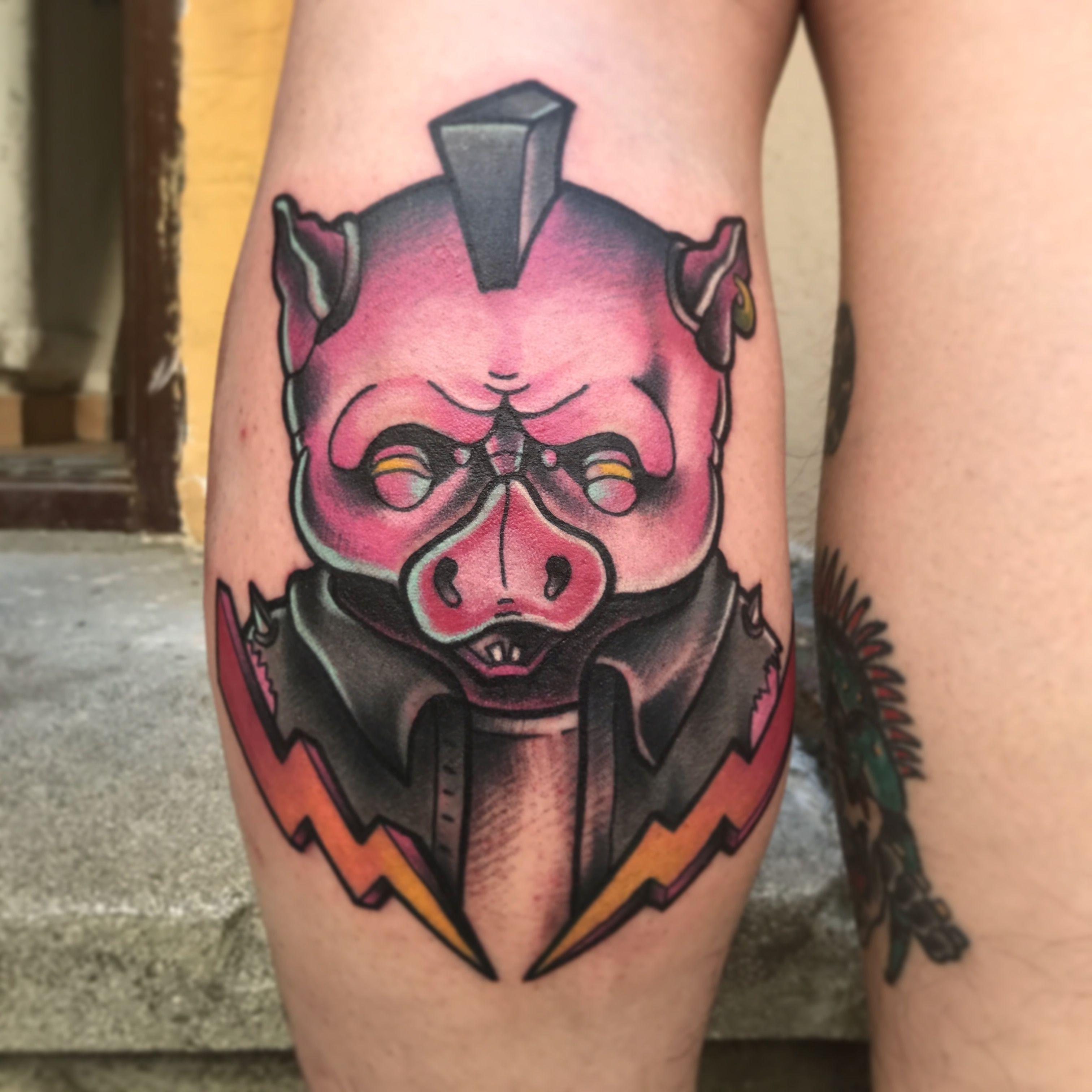 New school pig By Fifth Dimension Tattoo & Piercing
