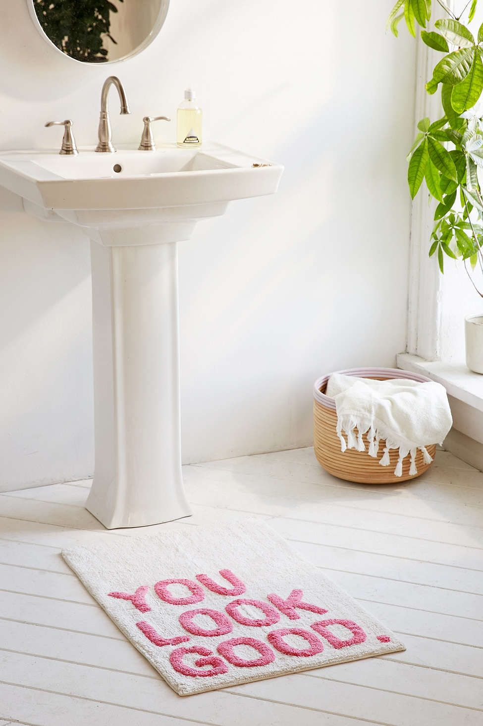 Plum Bow You Look Good Bath Mat House Stuff Dorm Bathroom