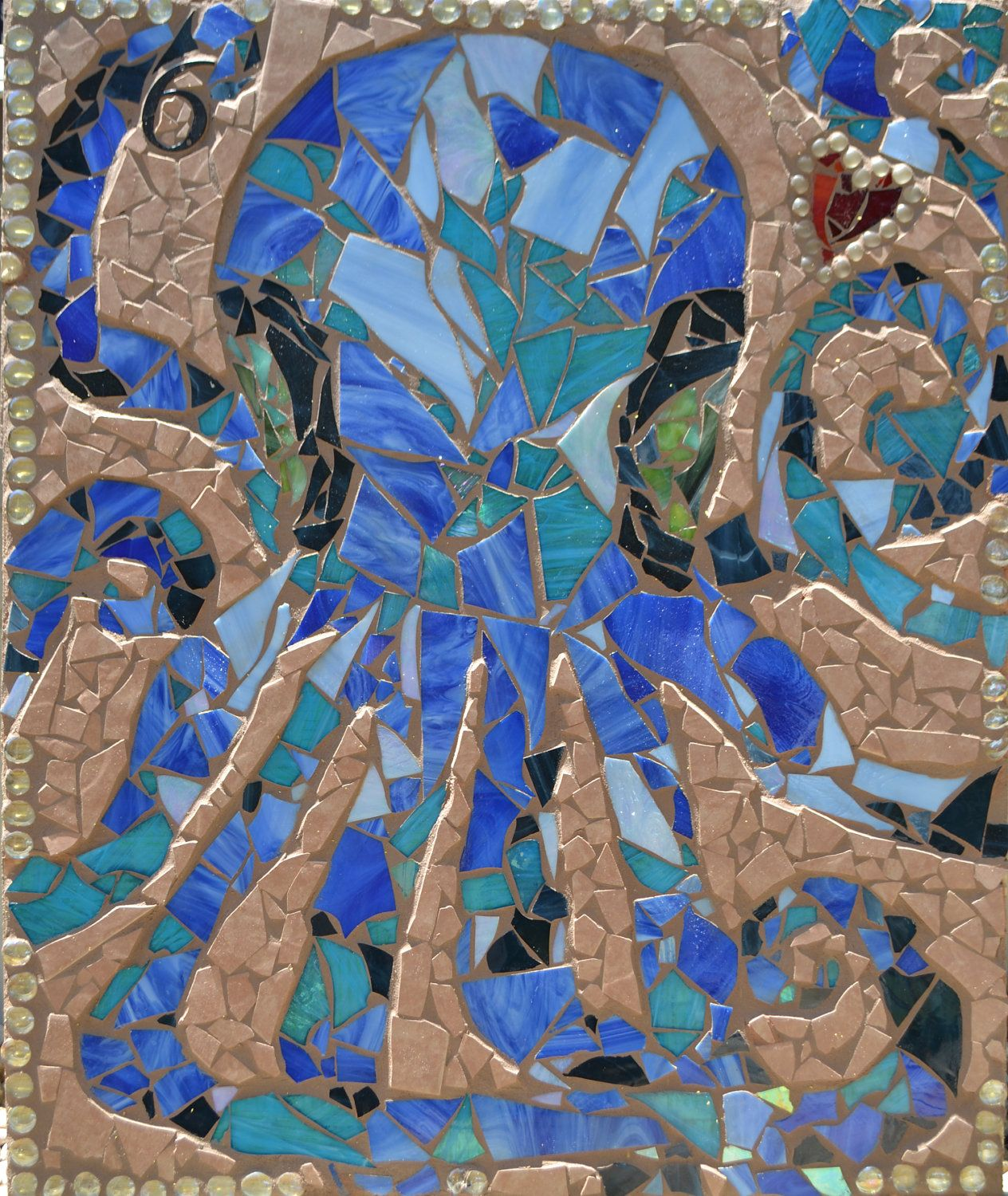 Stained Glass Ceramic Tile Mosaic Octopus.. $650.00, via Etsy ...