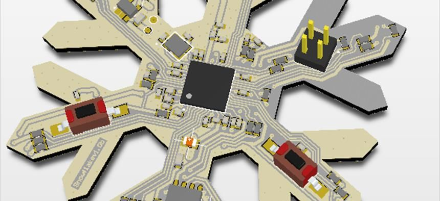 Snowflake Nrf52840 Projects Circuitmaker Projects Pcb Design Software Open Source Hardware