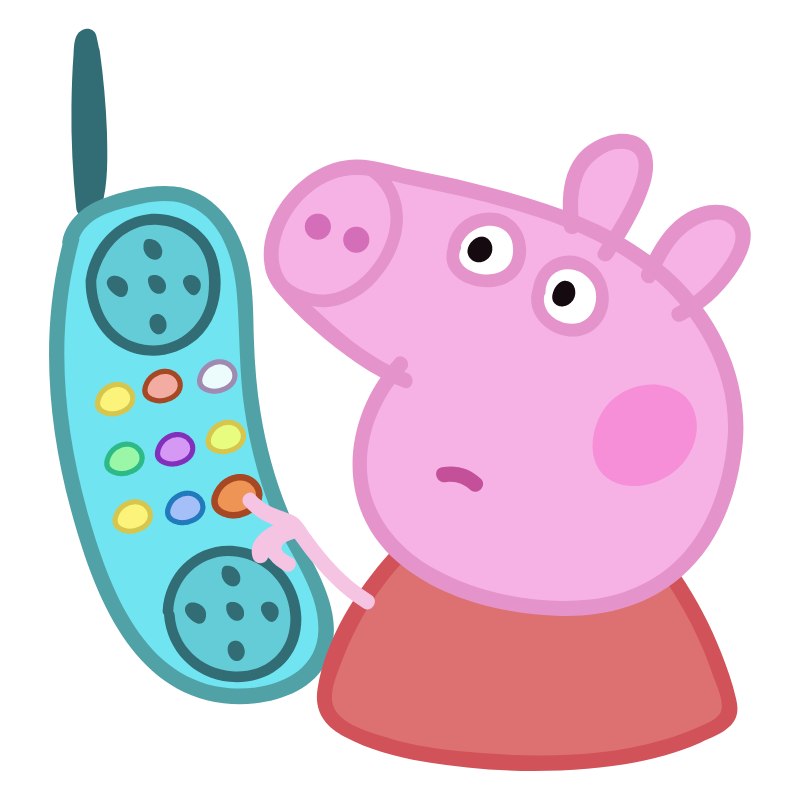 Peppa Pig Aesthetic Stickers