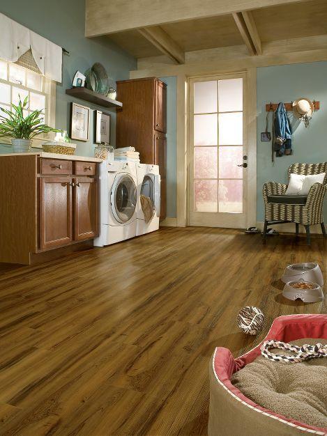 Peruvian Walnut Mayan Gold Flooring Trends Vinyl Flooring Laundry Room