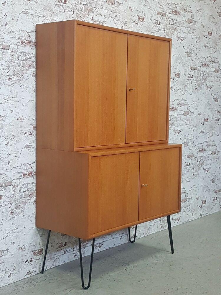 Weiß Holz Anrichte Retro Wohnzimmer Sideboard Dänisch Flur Kommode Schrank Möbel
