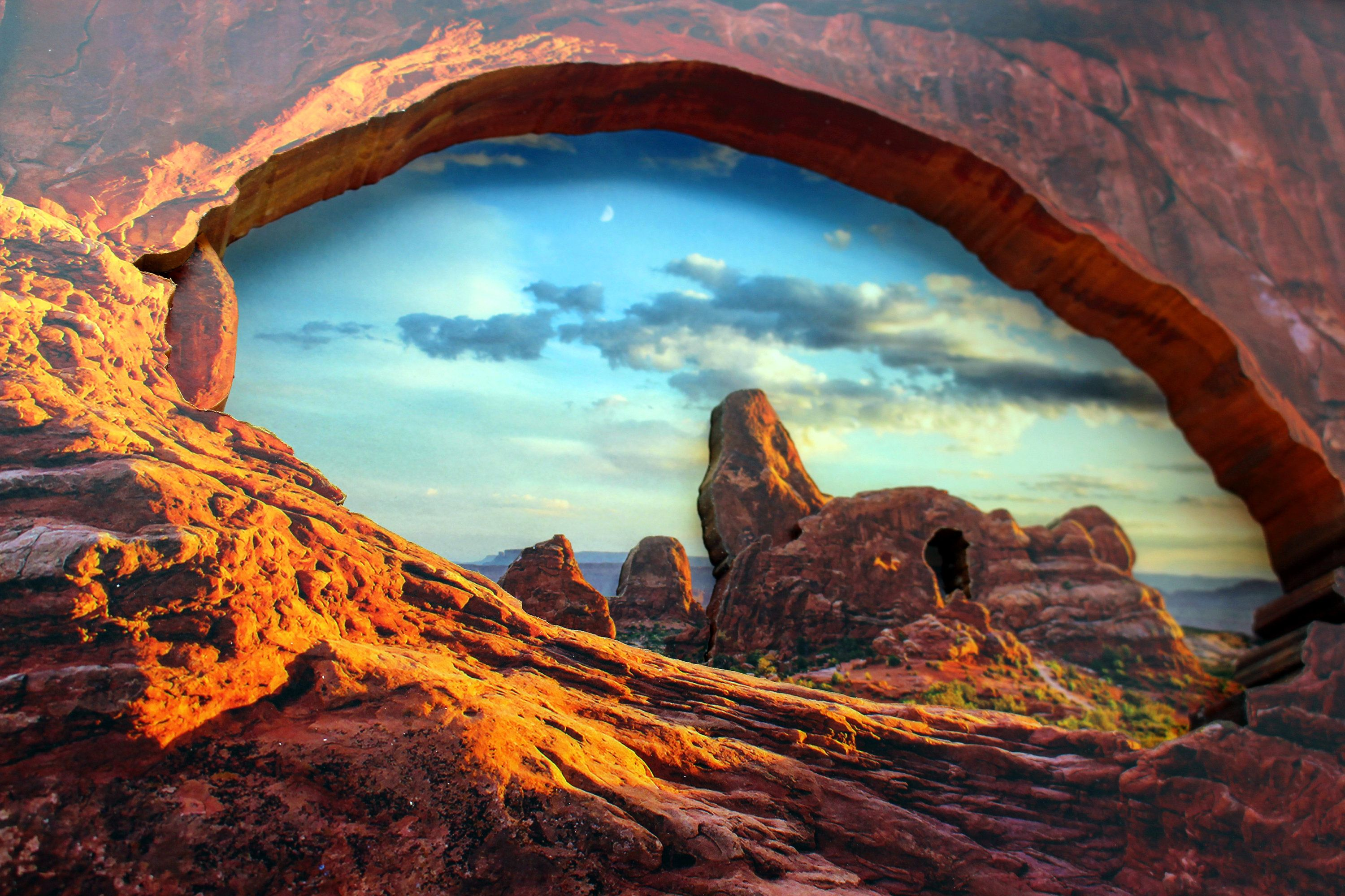 Turret Arch Utah Arches National Park Beehive State Park 3d Etsy Utah Arches Arches National Park National Parks