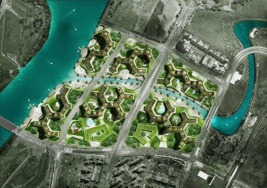 Verdant Urban Oasis Master Plan For Housing Development In Singapore By Group8asia Urban Oasis Urban Design Plan Site Development Plan