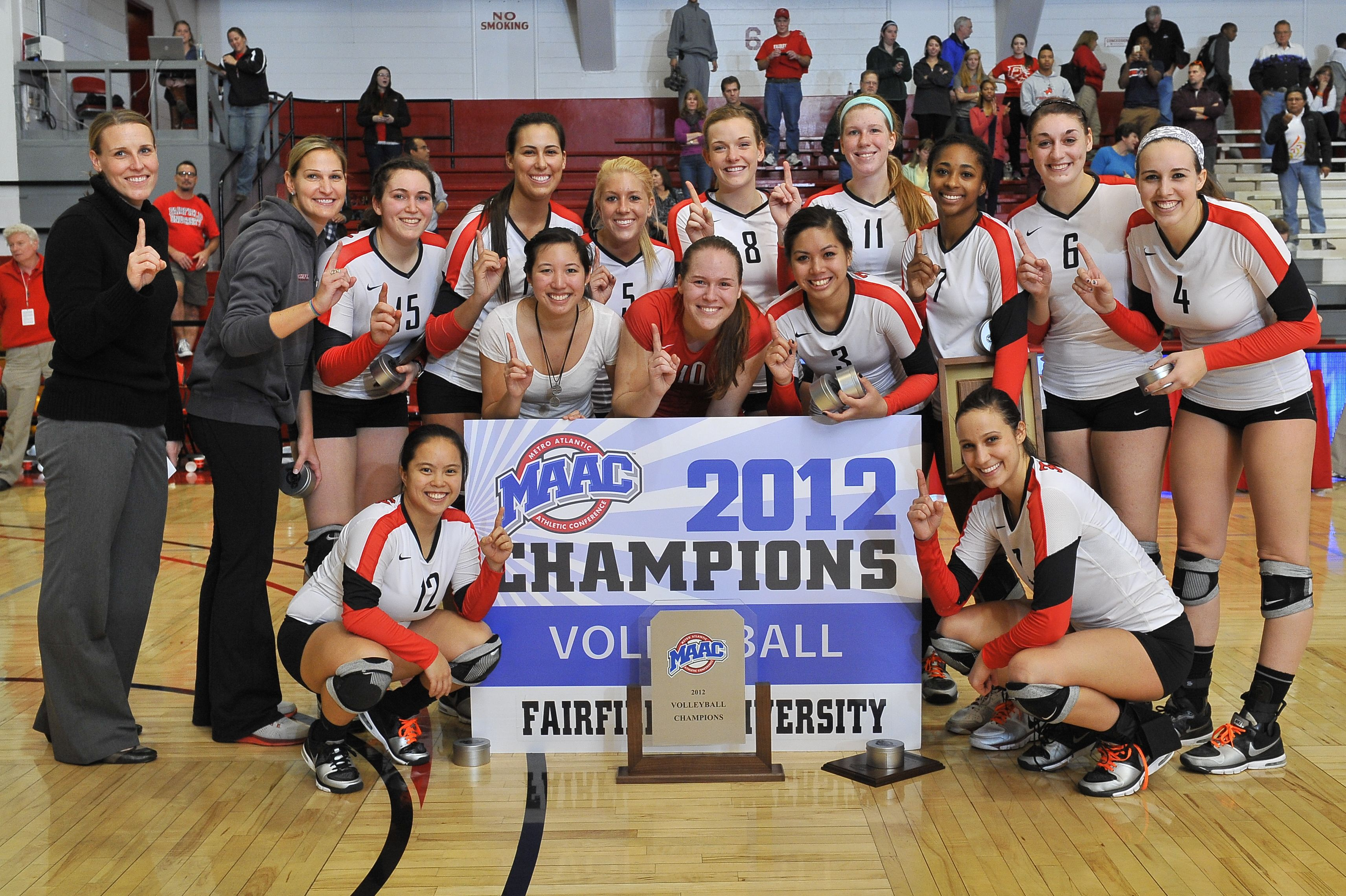 Congrats To Our Woman S Volleyball Team Winning The 2012 Maac Championship Women Volleyball Volleyball Team Athlete