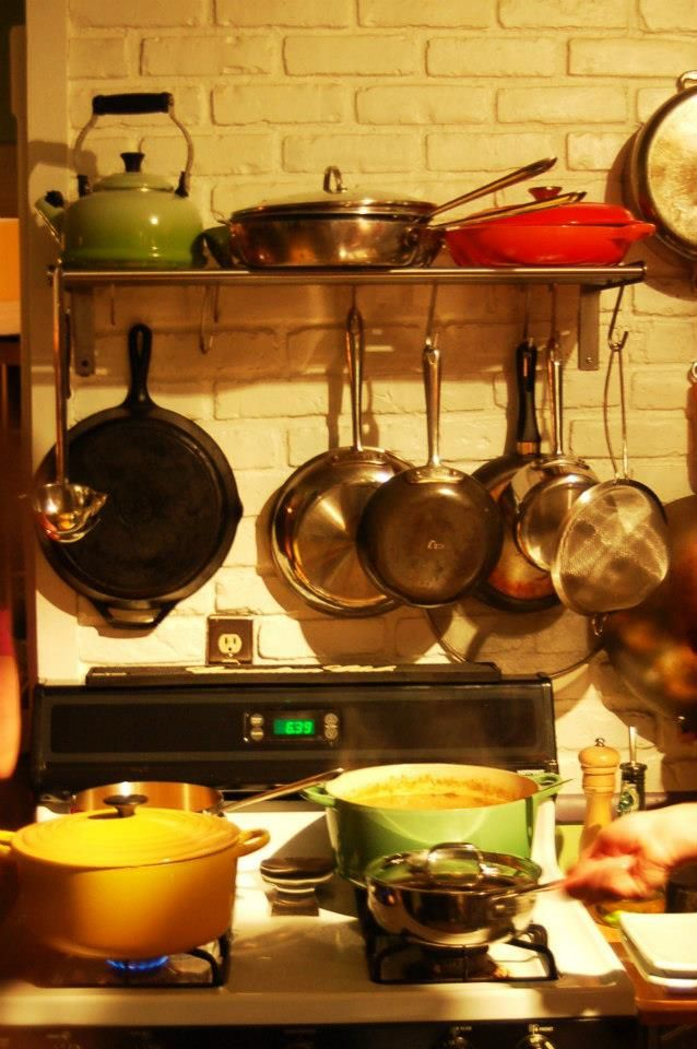 Kitchen Envy Stock Up The Pot Rack Then All Clad