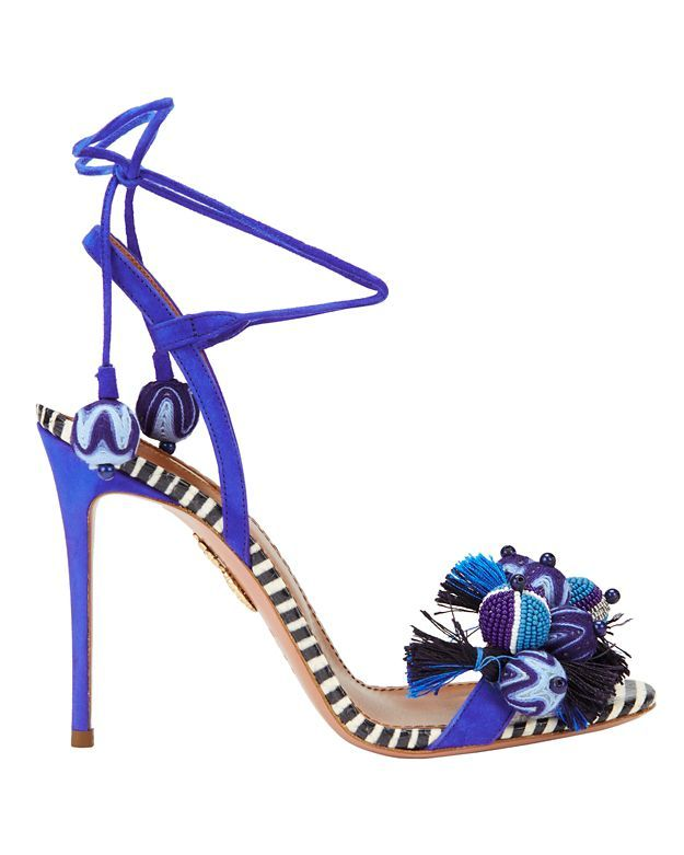 Blue sandals heels, Stiletto sandals