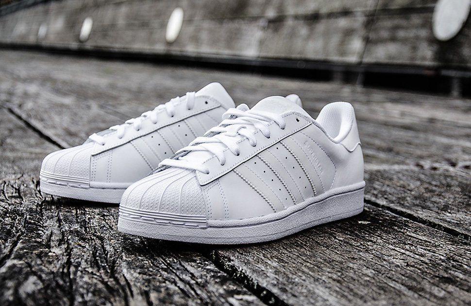 adidas Superstar Foundation: Triple White | Sapatos, Adidas
