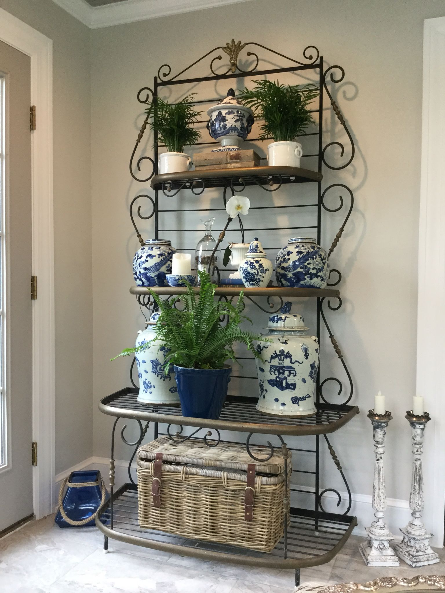 Bakers rack decoration ideas | Decor | Pinterest | Bakers rack ...