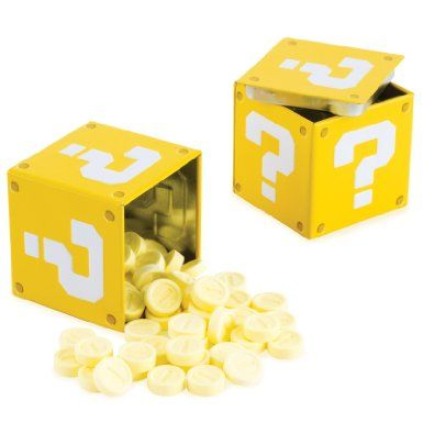 Guest favors: Nintendo Super Mario Bros. Question Mark Box Coin Candies: Amazon.com: Grocery & Gourmet Food