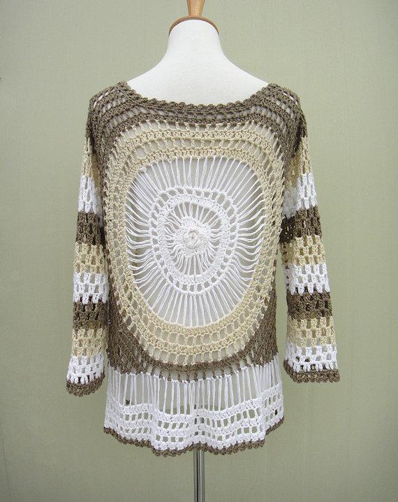 Tie Front Cardigan Sweater Crochet Mandala | Pinterest | Horca ...