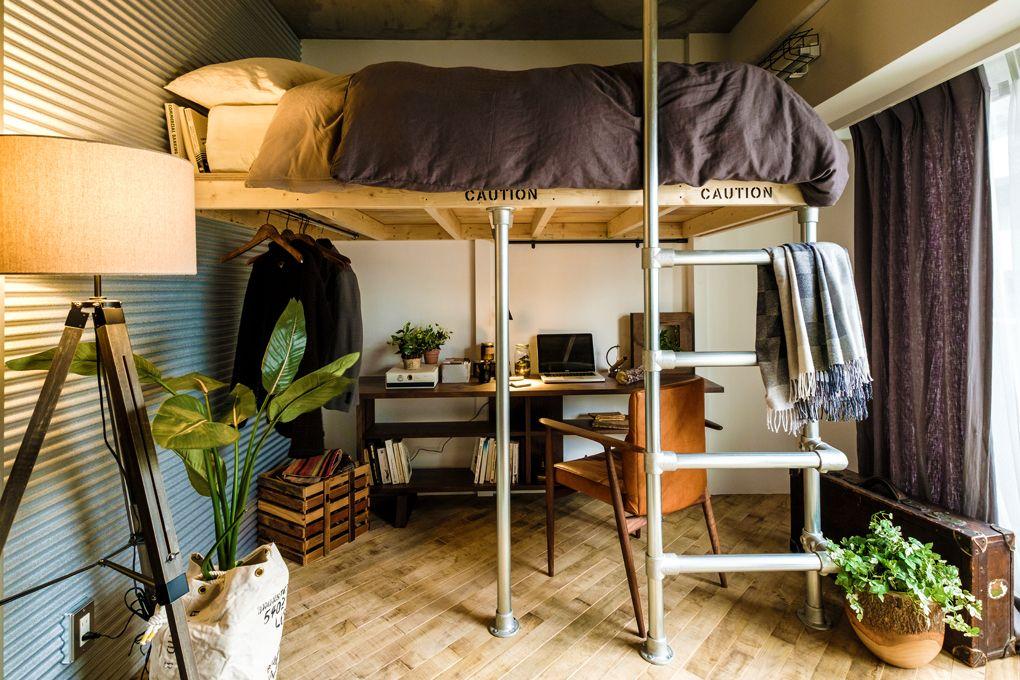 ワンルームの間仕切りアイデア特集 ベッドルームとリビングスペースを
