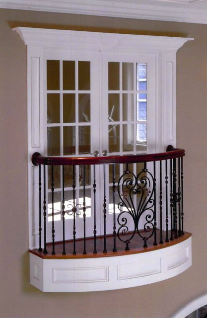 Interior ironwork finelli ironworks double decker for Indoor balcony railing