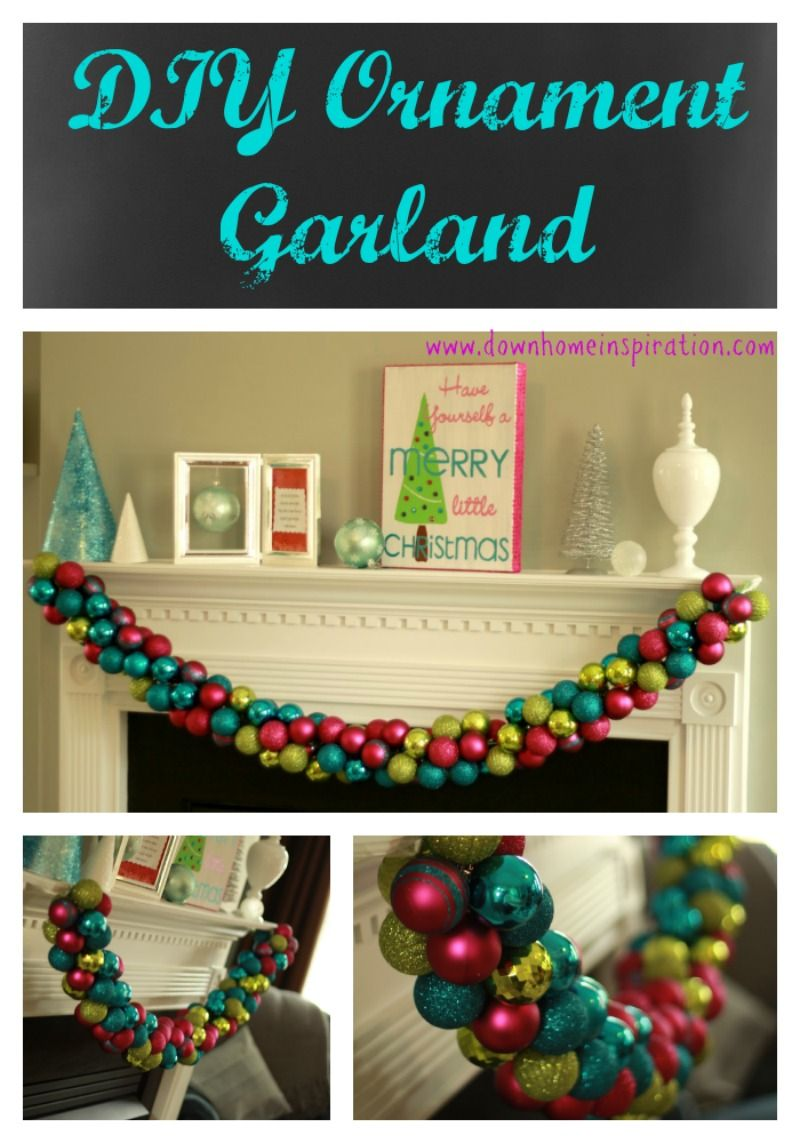 Diy Ornament Garland Down Home Inspiration Christmas Diy Diy Christmas Canvas Christmas Crafts Decorations