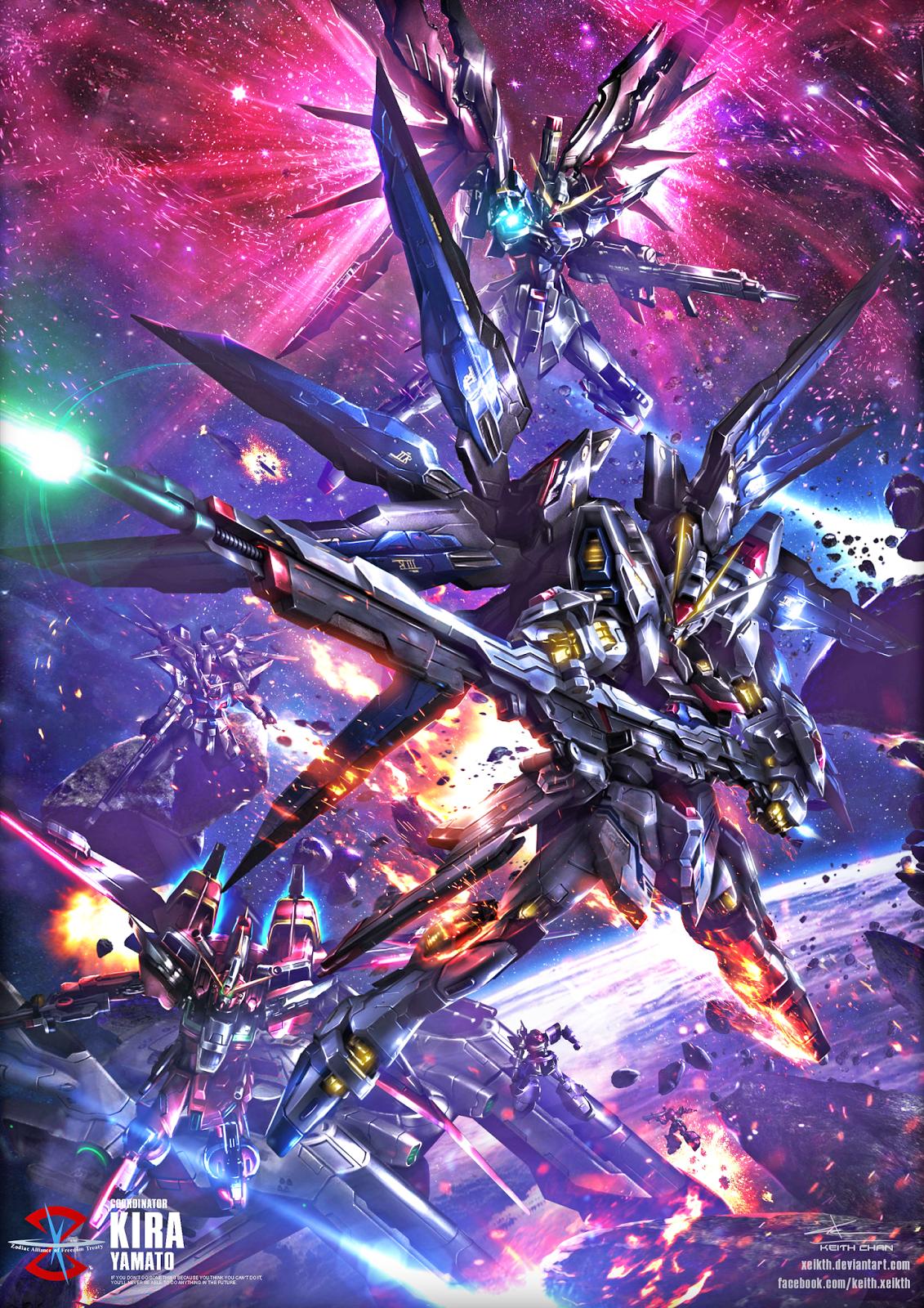 Gundam Digital Art Works by Keith Chan Xeikth Gundam