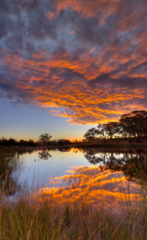 Sunset, Pond Amaroo Canberra AU, [3835x6244] | Beautiful ...