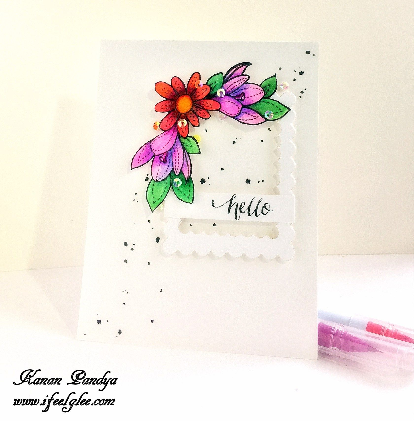 Hello ifeelglee floral greeting card with the sentiment hello ifeelglee floral greeting card with the sentiment hello m4hsunfo