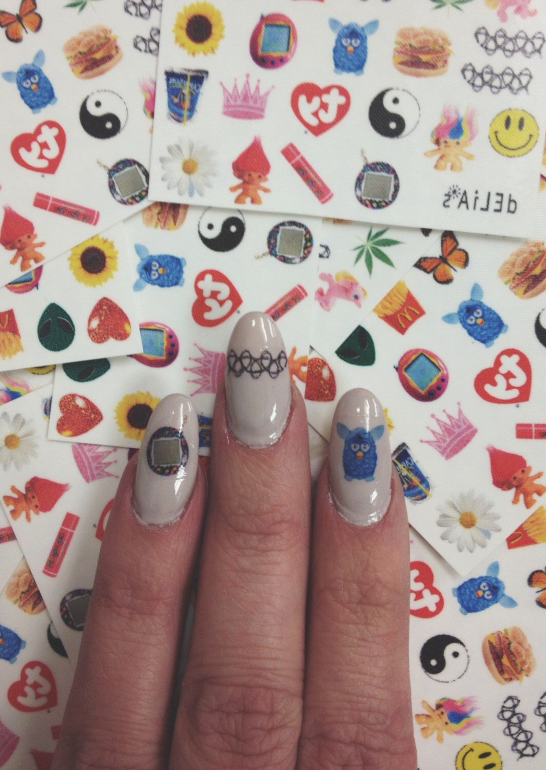 I LOVE THE 90s nail decals - set of 22 nail decals by shopTRIXXIE on ...