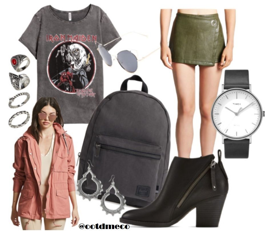 Edgy | Edgy outfits, White combat boots, Summer school outfits
