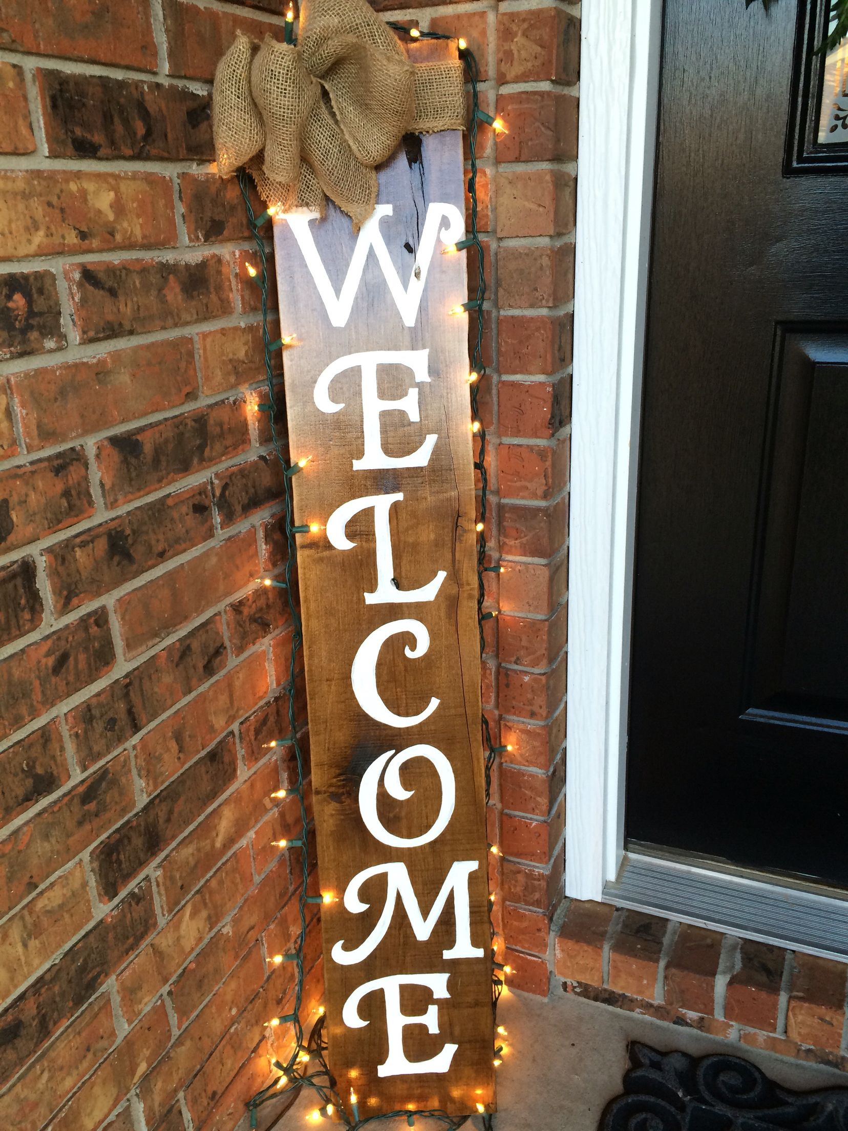Porch Welcome Sign W Added Lights Personal Projects