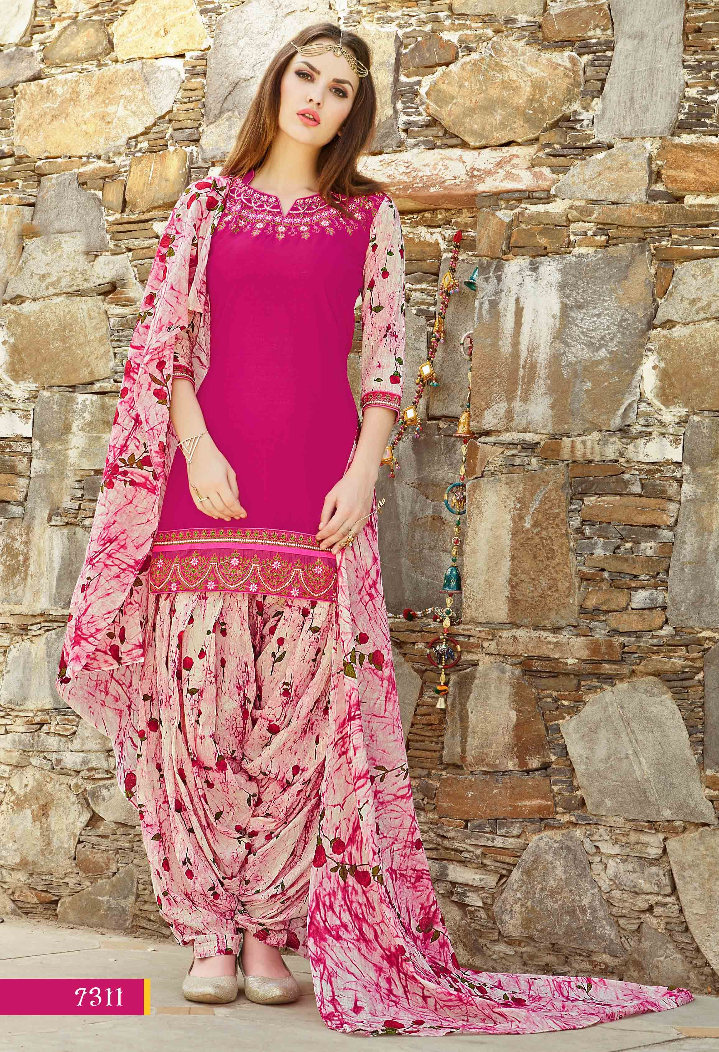 025aaf0628 Fashionnow Pink Cotton Patiala Salwar Kameez | Indian Outfits ...