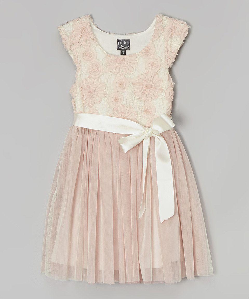 Love this Blush Daisy Cap-Sleeve Dress - Toddler by Zunie & Pinky on #zulily! #zulilyfinds