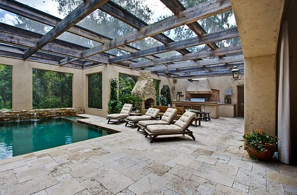 Lovely Pool Area Combines Mediterranean Style With A Touch Of Rustic Charm Decoist